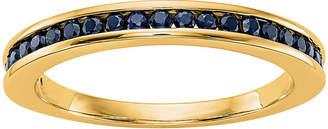 MODERN BRIDE Modern Bride Gemstone Womens 2.5mm Blue Sapphire 14K Gold Round Wedding Band
