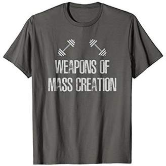 Funny Weapons of MASS Creation Weightlifter Gym T-Shirt