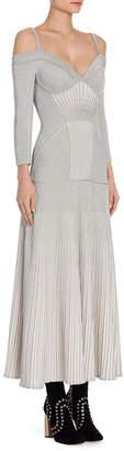 Alexander McQueen Metallic Midi Dress