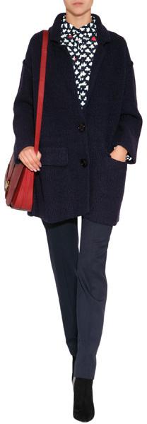 Sonia Rykiel Wool Pants in Marine Fonce