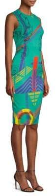 Versace Virtual Printed Sheath Dress