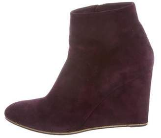 Salvatore Ferragamo Suede Wedge Boots