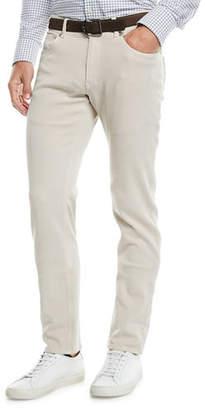 Peter Millar Men's Wayfare Knit Five-Pocket Straight-Leg Pants