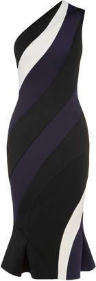 Rachel Gilbert Rumer One Shoulder Scuba Dress