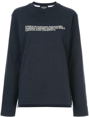 Calvin Klein embroidered text sweatshirt