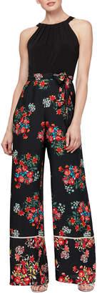 Slny Floral-Printed Halter Top Jumpsuit