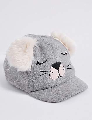 Marks and Spencer Kid's Fur Eared Novelty Baseball Cap (6 Months - 6 Years)