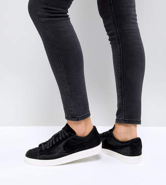 Nike Blazer Low Premium Sneakers In Black Ponyskin