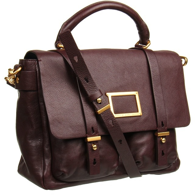 Marc by Marc Jacobs - Werdie Top Handle Messenger (Carob Brown) - Bags and Luggage