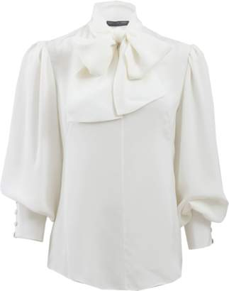 Alexander McQueen Oversized Blouse With Necktie