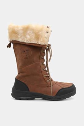 Ardene Folded Faux Leather Winter Boots