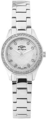 Rotary Lb90010-41 Women's Les Originales Stainless Steel Mop Dial Ss Crystal Bezel Watch