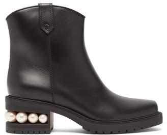 Nicholas Kirkwood Casati Pearl Heeled Leather Boots - Womens - Black