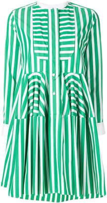 Maison Rabih Kayrouz pleated striped shirt dress