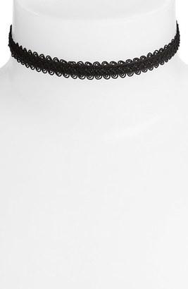 Women's Vanessa Mooney Black Lace Choker $30 thestylecure.com