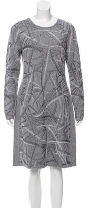 Blumarine Woven Metallic Dress w/ Tags Grey Woven Metallic Dress w/ Tags