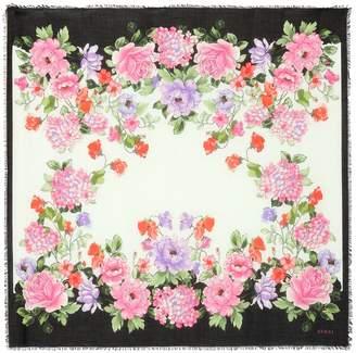 Gucci Floral silk-blend scarf