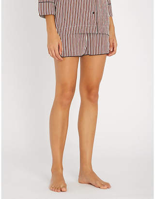 love stories Audrey striped woven pyjama shorts
