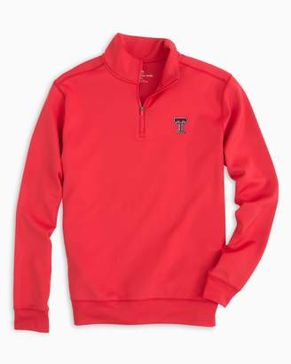 Southern Tide Gameday Performance 1/4 Zip Pullover - Texas Tech University