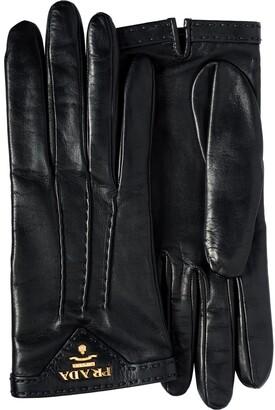 Prada lined gloves