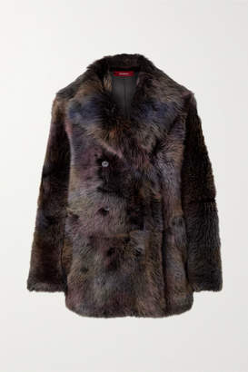 Sies Marjan Pippa Oversized Shearling Coat - Charcoal