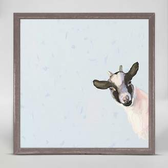 Oopsy Daisy Fine Art For Kids Baby Goat by Cathy Walters Mini Canvas Framed Art