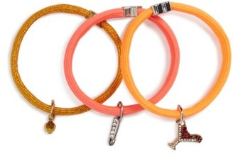 Marc By Marc Jacobs Set Of 3 Crystal Ponytail Holders $35 thestylecure.com