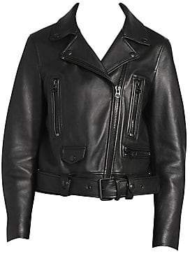 Acne Studios Women's Leather Moto Jacket