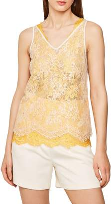 Reiss Kodi Layered Lace Scalloped Tank