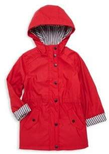 Urban Republic Baby Girl's & Girl's Stripe-Detail Raincoat