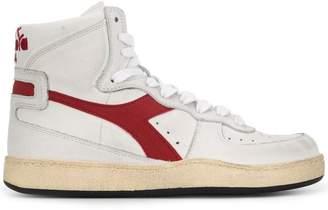 Diadora worn hi-top sneakers
