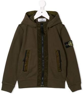 Stone Island Junior zipped hooded sweatshirt