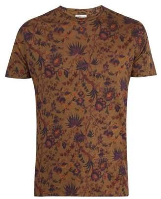 Etro Floral Print Linen T Shirt - Mens - Multi