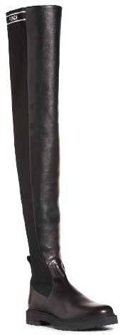 Women's Fendi Logo Over The Knee Boot