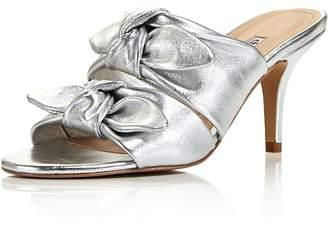 Charles David Women's Corona Leather High-Heel Slide Sandals