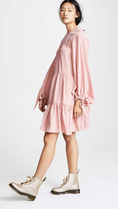 3.1 Phillip Lim LS Short Gathered Dress
