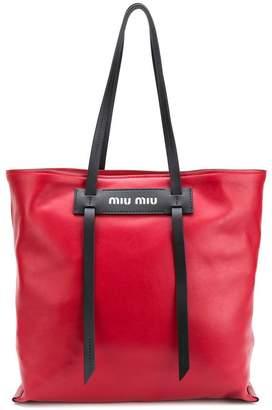 Miu Miu logo tote bag