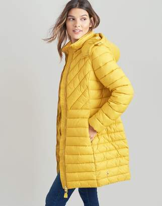 Joules RED Elodie long Lightweight Padded Jacket Size 18