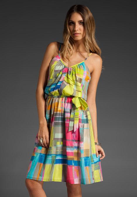Trina Turk Laguna Plaid Playa Vista Dress