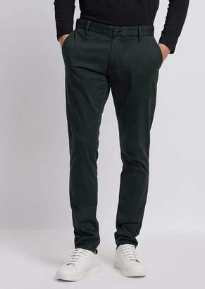 Emporio Armani Pants In Pigment-Dyed Cotton Satin