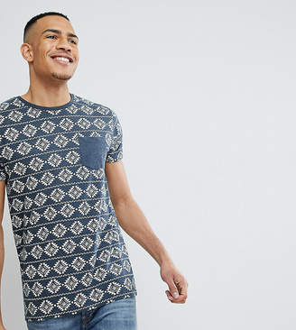 Brave Soul TALL All Over Aztec Print T-Shirt