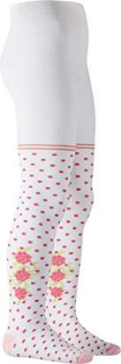 Playshoes Girls' Supersoft Dots with Roses Meets Oekotex-100 Standards Tights