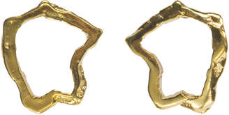 Gabrielle Vallarino 18kt Gold Plated Open Nugget Earrings