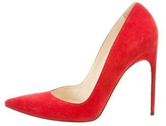 Brian Atwood Pointed-Toe Suede Pumps $130 thestylecure.com