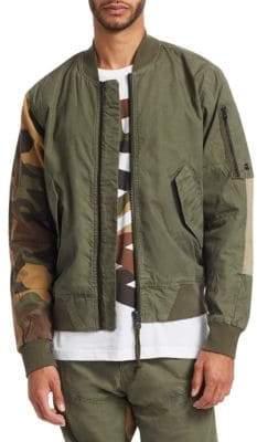 G Star Mixed Media Bomber Jacket