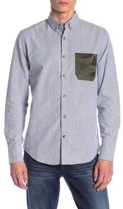Sovereign Code Maps Camo Pocket Regular Fit Shirt