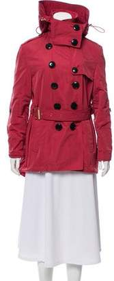 Burberry Hooded Belted Jacket