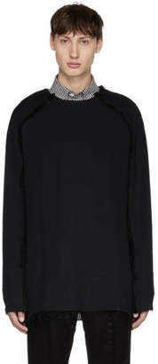 Yang Li Black Zipper Crewneck Sweater