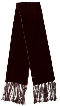 Dolce & Gabbana Velvet Fringe Scarf