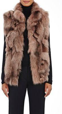 Barneys New York Women's Fox Fur Vest-PINK $1,495 thestylecure.com